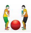 cricket championship concept vector image