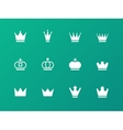 Crown icons on green background vector image vector image