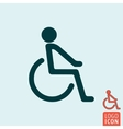 Disabled icon isolated vector image vector image