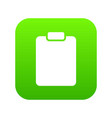 document plan icon green vector image vector image