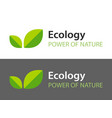 ecology logo isolated on white and dark vector image vector image