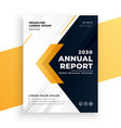 elegant yellow business annual report template vector image vector image