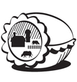 Farm in egg vector image vector image