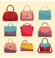 fashion bags set icon vector image vector image