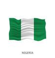 flag nigeria vector image