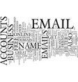 free email accounts pros and cons text background vector image vector image
