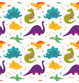 funny dinosaurs seamles pattern vector image vector image