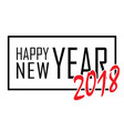 happy new year text in frame black border and vector image