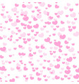 hearts design background greeting card valentine vector image