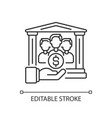 institutional donor linear icon