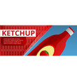 ketchup bottle concept banner cartoon style vector image vector image