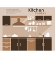Kitchen interior in flat infographic style vector image vector image