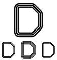 Line letter d logo design set vector image vector image