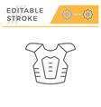 motorcycle protector line icon vector image vector image