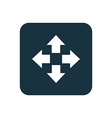 move icon Rounded squares button vector image