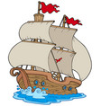 old sailboat vector image