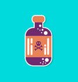 paper sticker on stylish background potion in vector image vector image