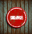 prohibitory road signal on a wooden wall vector image vector image