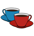 Red and blue cups vector image