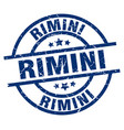 rimini blue round grunge stamp vector image vector image