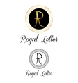 Royal letters logo vector image vector image