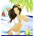 Santa beach vector image vector image