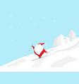 santa claus skiing in christmas day vector image vector image