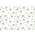 seamless baby pattern with panda face vector image