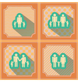 Seamless background with family members vector image