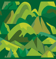 seamless pattern with mountain icons in flat style vector image vector image