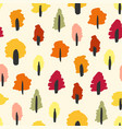 seamless simple autumn forest tree pattern vector image vector image