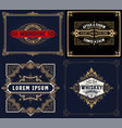set 4 vintage cards layered vector image vector image