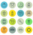 set of 16 plant icons includes rubber boot vector image vector image