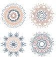 Set of round mandalas vector image