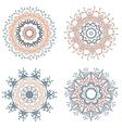 Set of round mandalas vector image vector image