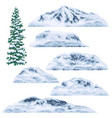 snow-capped mountains and hills vector image