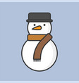 Snowman filled outline icon for christmas theme