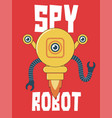 spy robot for t-shirt and other uses vector image vector image