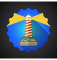 Travel Lighthouse flat icon vector image