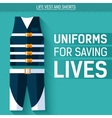 Uniform for saving lives icon vector image