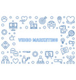 video marketing linear or vector image vector image