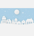 views of the house in winter on a snowy day with vector image vector image