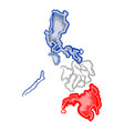 watercolor map of philippines vector image