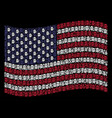 waving united states flag stylization of beer vector image vector image