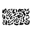 wavy and swirled brush strokes collection vector image vector image