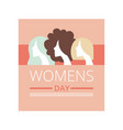 womens day greeting card party invitation vector image vector image