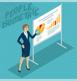 young woman at business presentation vector image vector image