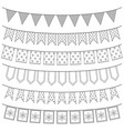 set of garlands vector image