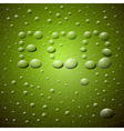 Abstract Green Background ECO Title Made from vector image vector image