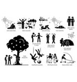 adam and eve christian bible story artwork vector image